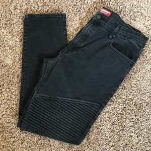 Arizona men's skinny moto black jeans 38x32